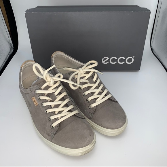 Ecco Soft 7 Ladies Leather Warm Grey